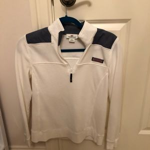 White Vineyard vines quarter zip